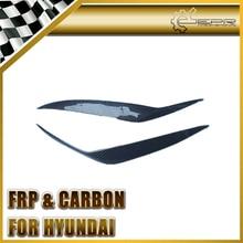 Car-styling For Hyundai 2003-2006 Genesis Coupe Tiburon Carbon Fiber Headlight Eyebrow Eyelid