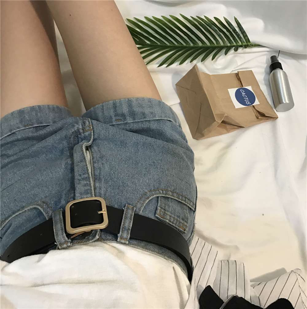 BBN women ulzzang new style is casual restoring ancient ways metal square buckle belt contracted adornment girdle lady belt
