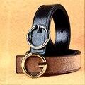 Moda Unisex G Suaves Cinturones de Hebilla Para Las Mujeres Cinturones de Diseño Hombres de Alta Calidad Correa de Cuero de Lujo de Los Hombres