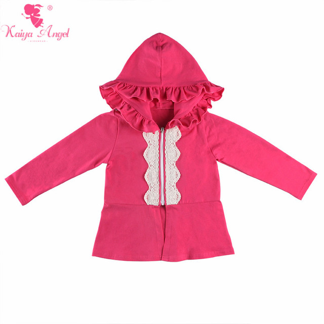 26896f19b18ae Kaiya Angel Retail Baby Girls Clothes 2018 Spring Autumn Long Sleeve Hooded  Coat Children Solid Cotton Boutique Jackets