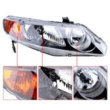 1Pcs Waterproof Car Headlight Durable Right Side 33151-SNA-A02 33101-SNA-A02 33151SNAA02 for 2006-2011 Honda Civic