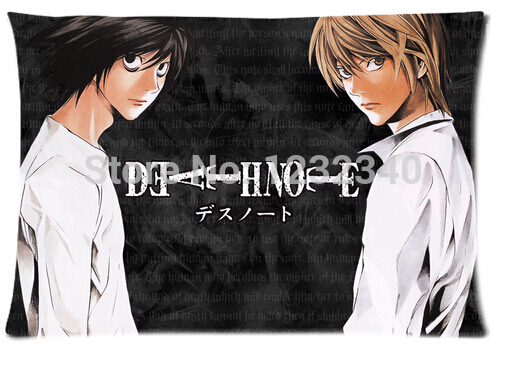 Cool Pillowcase Death Note Style Pillow Case (Twin Sides)(20×30 Inch)
