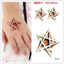 2pcs/ Time-limited Temporary Tattoo Small Fresh Elements Pentacle Totem Tattoo Stickers Rc2318 Waterproof Cover.
