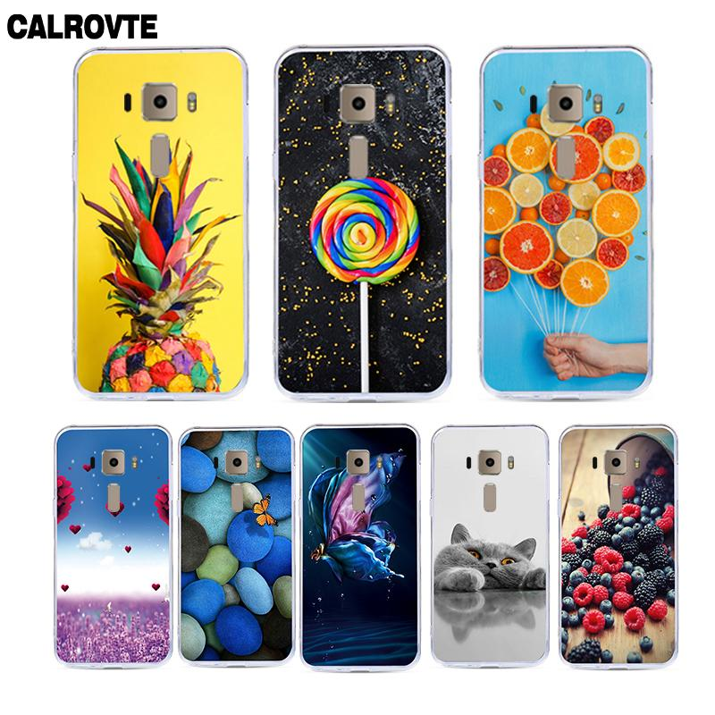 CALROVTE Phone Case For Asus ZenFone 3 ZE520KL Z017DA <font><b>ZE</b></font> ZE520 <font><b>520</b></font> 520KL <font><b>KL</b></font> Cute Cartoon Animal Soft Silicone Back Cover Cases image