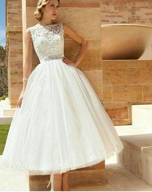 E MARRY New Arrival Beach Ankle Length Wedding Dresses Elegant ...