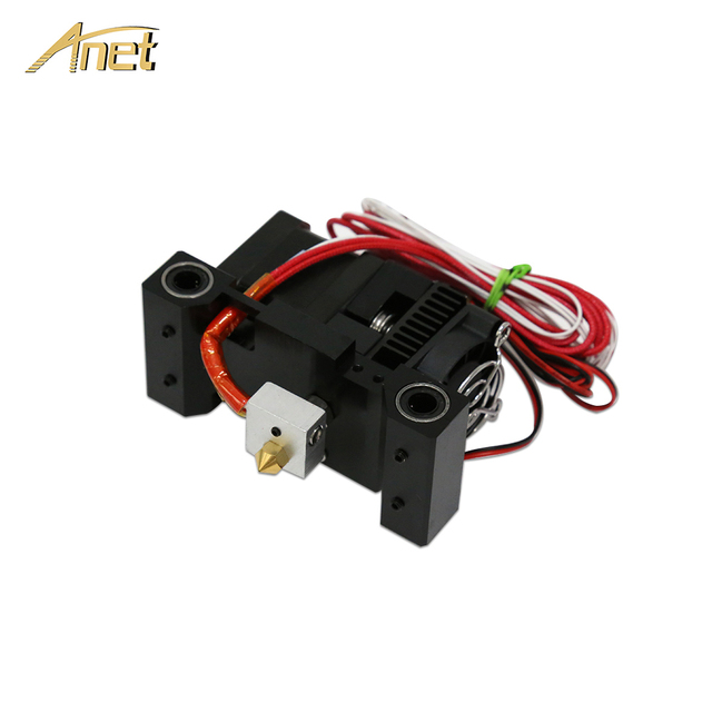 Anet 3d printer Extruder Head MK8 Extruder J-head Hotend Nozzle Feed Inlet Diameter 1.75 Filament For Anet A6 3D Printer