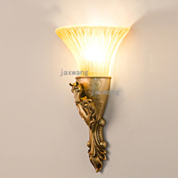 European Luxury glod Wall Light for Home Living Room TV Background Wall Lamp Home Decoration Wall Sconces Bedroom Mirror Light