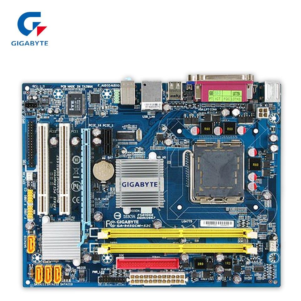 Original Gigabyte GA-945GCM-S2C Desktop Motherboard 945GCM-S2C 945GC LGA 775 DDR2 4G SATA2 Micro ATX 100% Fully Test 100% new desktop motherboard 945gc f fully integrated network support core celeron 775 pin motherboard ddr2 free shipping