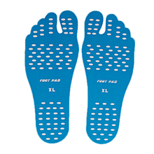Adhesive Beach Foot Shoe Pads Men Women Anti-slip Invisible Sticker Elastic Flexible Pool Barefoot Feet Protection Pad 1 Pair 1 pair adhesive foot pads feet sticker stick on soles flexible anti slip beach feet protection best sale wt