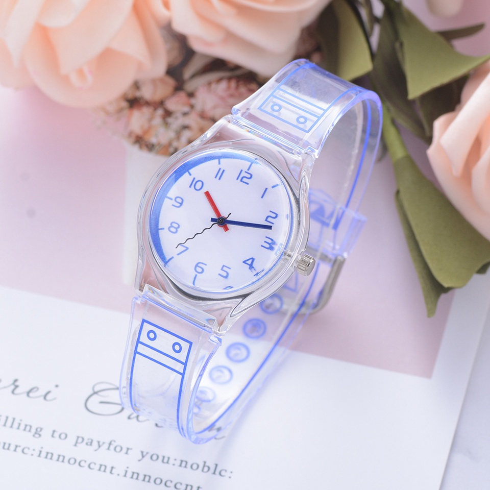 Fashion Silicone Dress Quartz Watches For Women Simple Transparent Strap Casual Business Ladies Wrist Watch Relogio Feminino