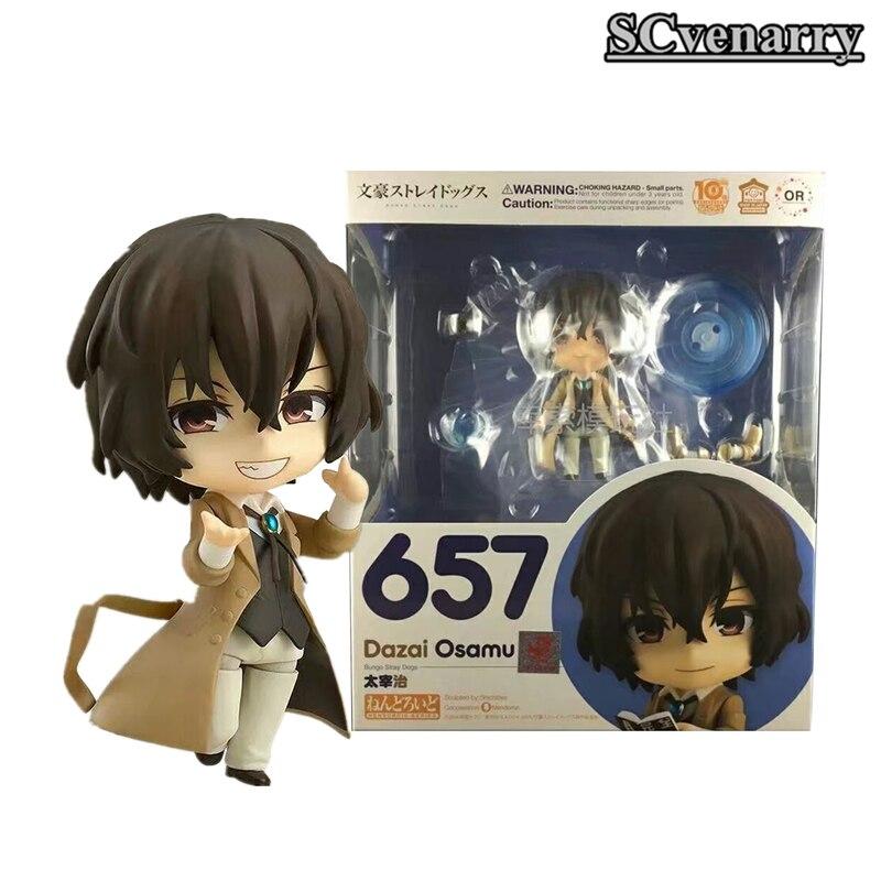 Ainme Bungo Stray Dogs Anime Dazai Osamu Nendoroid  Action Figure Collectible Model Toy 10cm noragami stray god 7