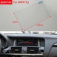 Adesivo auto 8.8 pollice Acciaio Pellicola Protettiva Dello Schermo di Navigazione GPS Per BMW X3 di Controllo dello Schermo LCD Car Styling