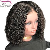 Elva Hair Lace Front Human Hair Wigs With Baby Hair Curly Glueless Lace Front Wig Brazilian Remy Hair Wig Pre Plucked Hairline