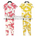 2016 Nueva Primavera Verano Niños Dinosaurio para Muchachas de Los Bebés Camisetas Pantalones de la Camiseta Tops Ropa de Los Niños