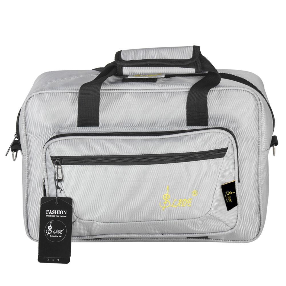 Oboe Clarinet Carrying Bag Backpack Case Soft Saxophone Bag Sponge Padding With Shoulder Strap Red Blue Black Color