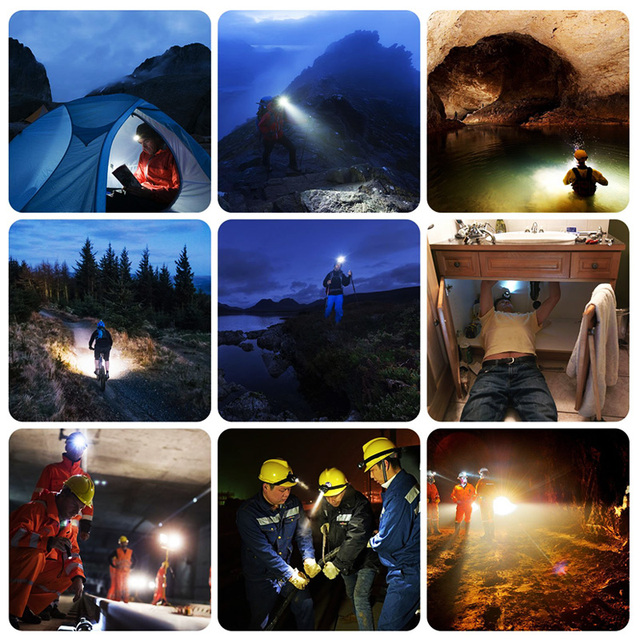 6000lums Hands-free LED Headlamp Motion Sensor head lamp LED headlight Torch Built-in battery inductive with Portable box 10