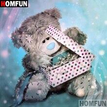 HOMFUN 5D DIY Diamond Painting Full Square/Round Drill Cartoon bear 3D Embroidery Cross Stitch gift Home Decor A00448