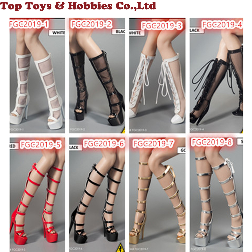Flirty Girl Collectibles FGC2019-8 1//6 Female High Boots For 12/'/' Figure Body