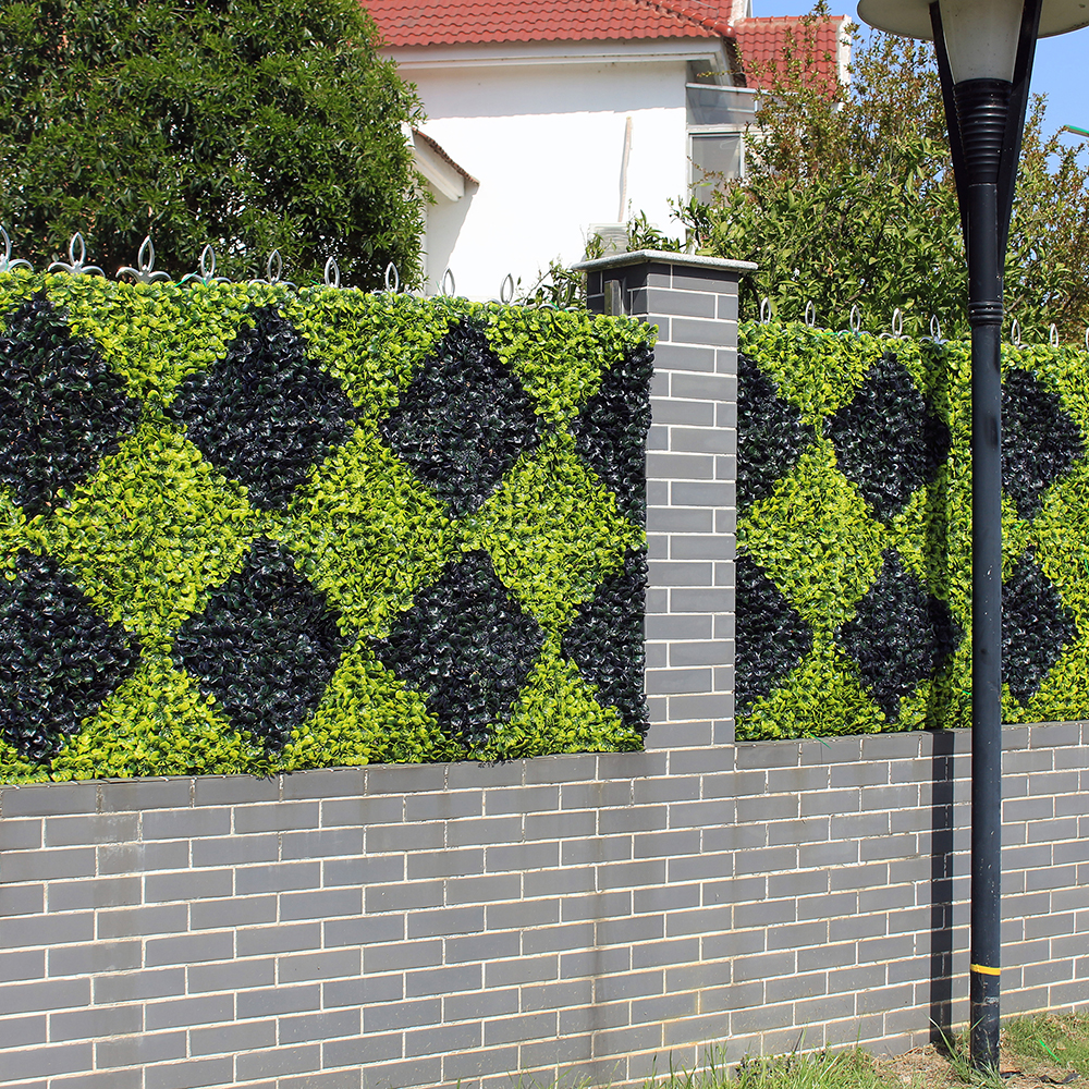 Artificial Boxwood Hedge Privacy Plastic Fence Panels 10X10 inches UV Proof DIY Plants for Decoration Garden Balcony