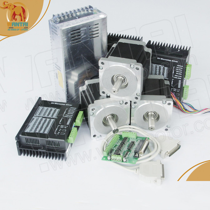 Hot <font><b>CNC</b></font>! Wantai <font><b>3</b></font> <font><b>Axis</b></font> Nema23 Stepper Motor 57BYGH633 270oz-in 78mm+Driver DQ542MA 4.2A 50V 125Micro <font><b>Mill</b></font> Laser Engraver <font><b>Kit</b></font> image