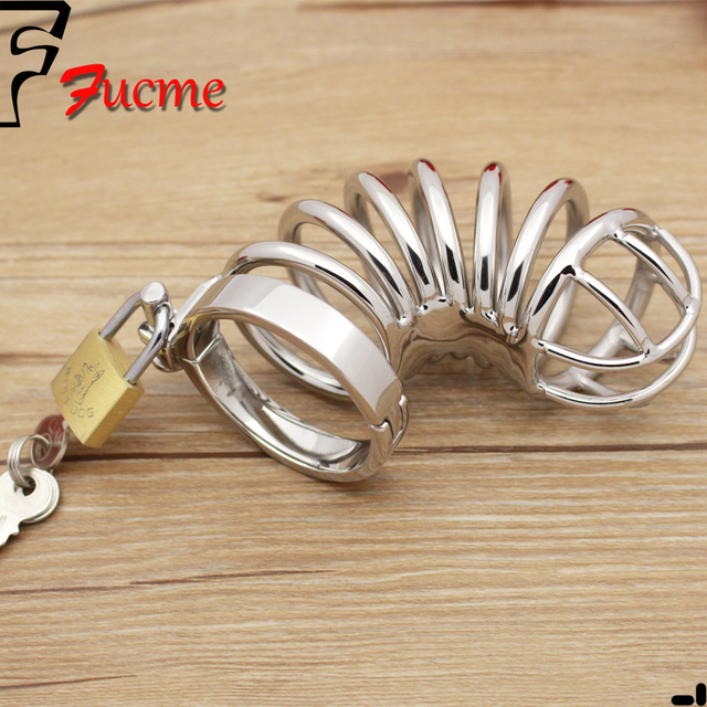 2015 Limited Sex Toys for Men Metal Cock Ring Sex Toys Large Curved Stainless Steel Cb6000 Chastity Device Lock Adult Products