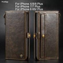 2 в 1 Магнитный карман Съемная флип чехол для iPhone X кожаный чехол бумажник ремешок кольцо для ключей Роскошные iPhone 6 S 7 8 плюс