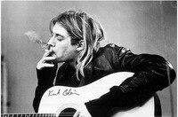 Custom GB Eye Kurt Cobain Smoking Poster Decor Best Nice Canvas Print 50x75cm FREE SHIPPING DGT