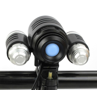 3000 Lumens 10W High Power CREE 3 Head XML T6 LED Bicycle Bike White Light lights Head Lamp 2 in 1 Aluminum alloy Waterproofing