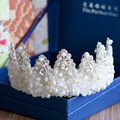 white crystal tiara crown pageant rhinestone tiaras crowns big king crown wedding hair accessories bridal jewelry for bride T792