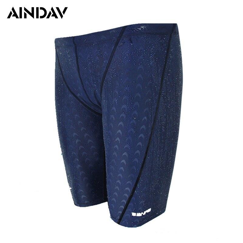 2018 New Professional Fifth Pants Swimwear for Men Swimming Shorts Boys Mens Swim Trunks Swimsuit Beach Briefs Zwembroek Sunga