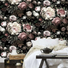 European Style Retro Rose Butterfly Mural Wallpaper Living Room Bedroom Backdrop Wall Painting Fresco Pastoral Floral
