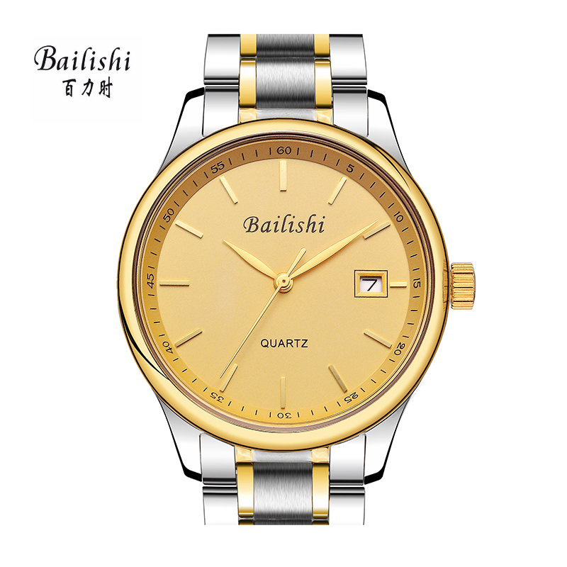 BAILISHI gold men watches brand luxury Men Casual Sports Watches Male Clock Stainless Steel WristWatch Mens Relogio Masculino
