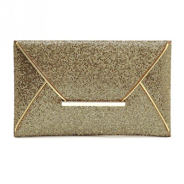 2017 Super Fashion Women Glitter Sequin Evening Party Bag Ladies Tote Messenger Bag Envelope Handbag 3 Colors for Choice