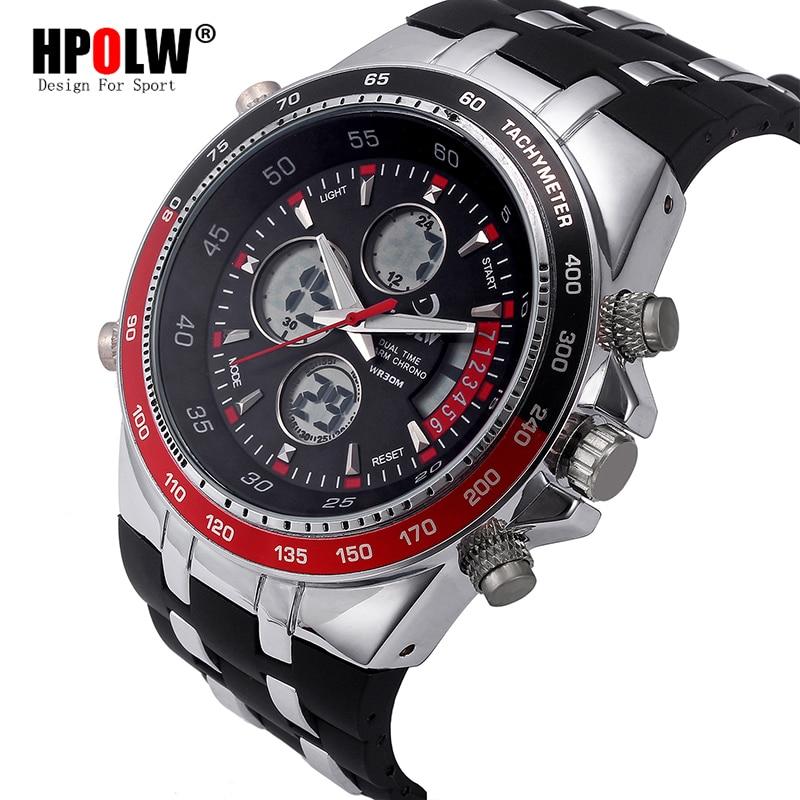 fd7614d2b6a Nova Esporte Militar de Quartzo Dos Homens Top Marca de Luxo Famoso Relógio  Eletrônico Digital LED