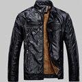 Мужчины Кожаные Куртки Pu Кожа Jaqueta Masculinas Inverno Couro пальто Мужчины Jaquetas Де Couro мужская Зимние Кожаные Куртки
