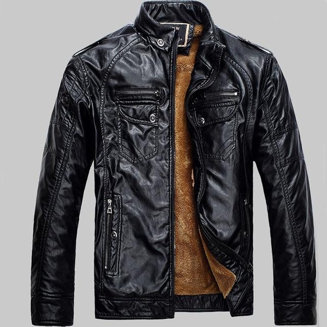 Men Leather Jackets Pu Leather Jaqueta Masculinas Inverno Couro coat Men Jaquetas De Couro Men's Winter Leather Jacket