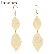Innopes Fashion Woman Vintage Leaves Long Tassel Earrings National Acrylic