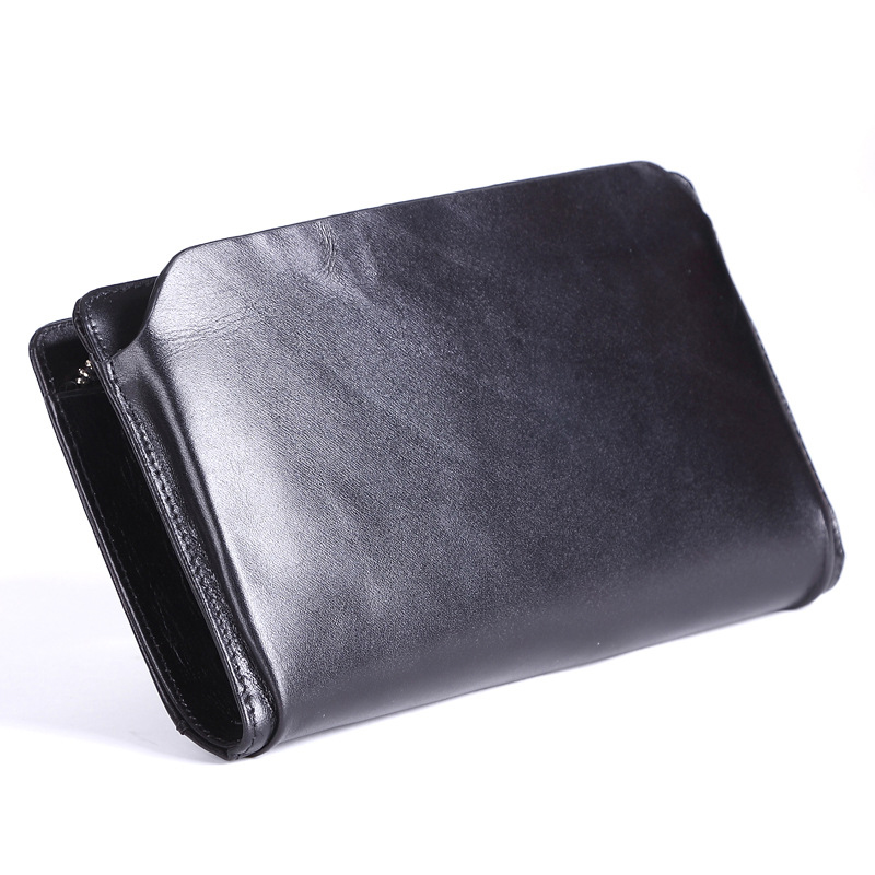 Men Wallet Cowhide Genuine Leather Purse Money Clutch Card Holder Coin Long Casual Cash Phone 2017 Male Wallets Dollar Price ������������������