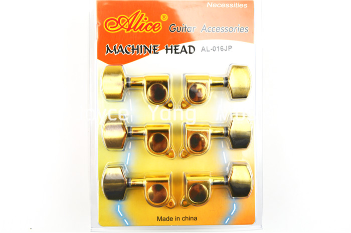 Alice Golden Acoustic Electric Guitar Tuning Pegs Tuners Machine Head 3L+3R Free Shipping Wholesales бумажник golden head портмоне 3331501