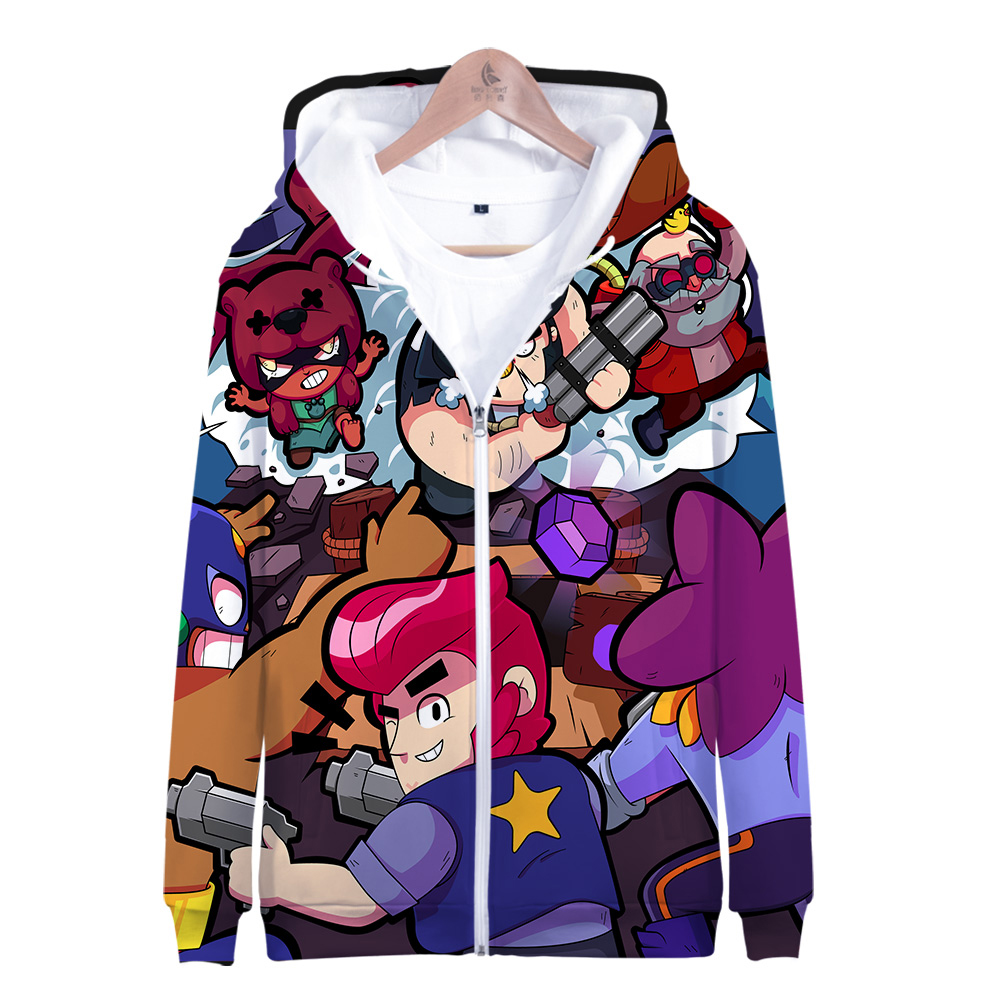 Hooded Sweatshirts Streetwear Long-Sleeve Harajuku Printed 3D Brawl-Stars Fashion Casual