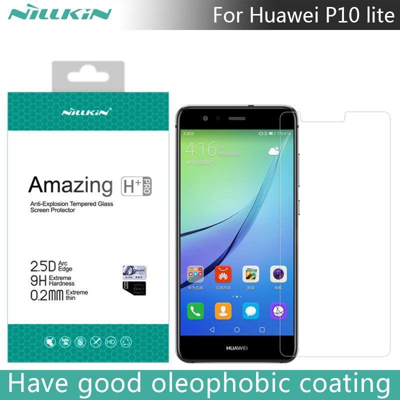 Pour Huawei P10 lite NILLKIN Incroyable H + PRO 2.5D 0.2mm Anti-Explosion Trempé Protecteur D'écran En Verre Pour Huawei P10 lite 5.2 pouce