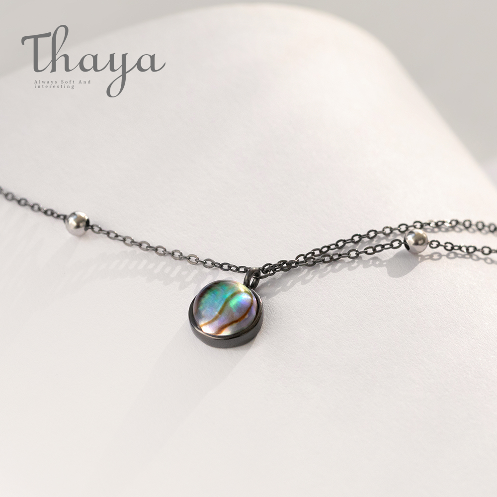 Thaya Star Planet Space Milky Way 100% s925 Silver Pendant Necklace Galaxy Crystal Black Chain for Women Jewelry Christmas Gift(China)