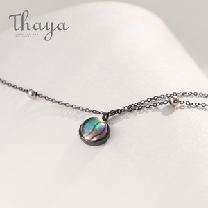 Image 1 - Thaya Star Planet Space Milky Way 100% s925 Silver Pendant Necklace Galaxy Crystal Black Chain for Women Jewelry Christmas Gift