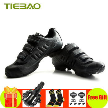 Tiebao Cycling Shoes Sapatilha Ciclismo MTB Bike Bicycle SPD bisiklet Pedals Breathable Self-locking riding Sneakes