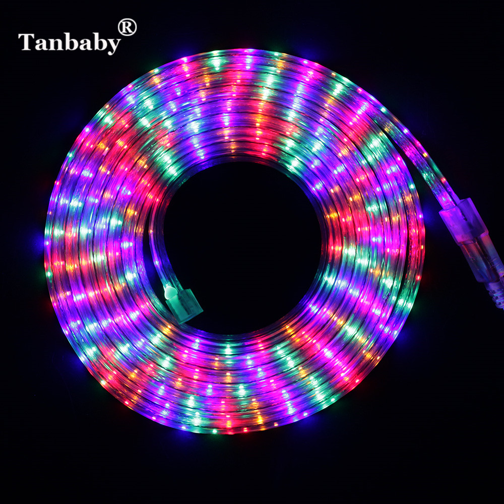 SMD3014 led stripe Fargerikt 72LED / M flerfarget AC220V 1M / 5M / 20M utendørs vanntett IP67 Fleksibel LED Tape Ribbon light