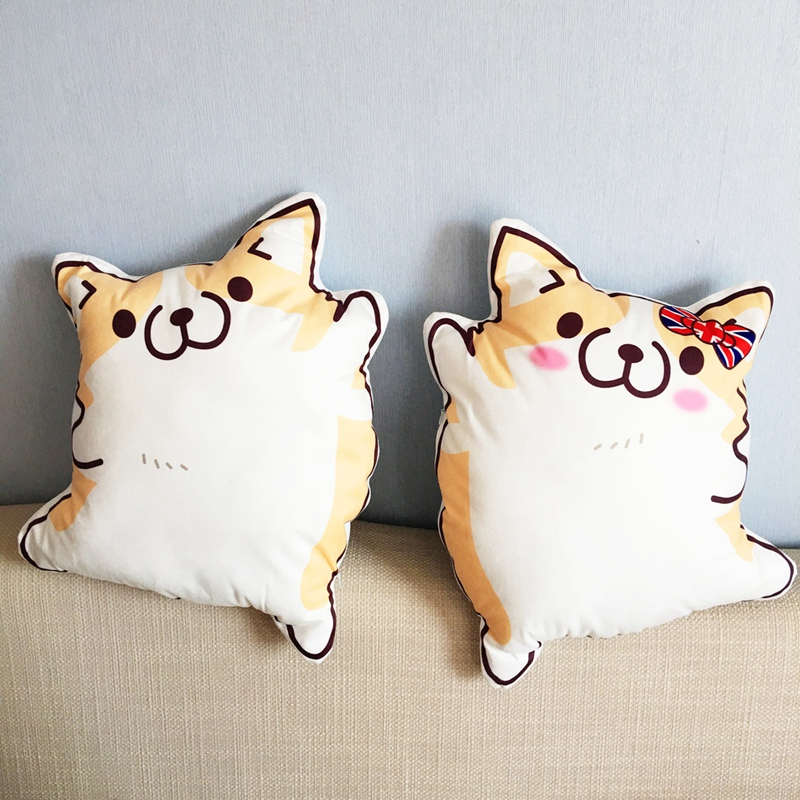 Cute Plush Dog Toy Corgi Shape Stuffed Soft Cushion Home Sofa Decorative Pillow Kids Toy Couple Pillow high quality black full glass lcd display touch screen digitizer assembly for lenovo k860 k860i replacement free shipping