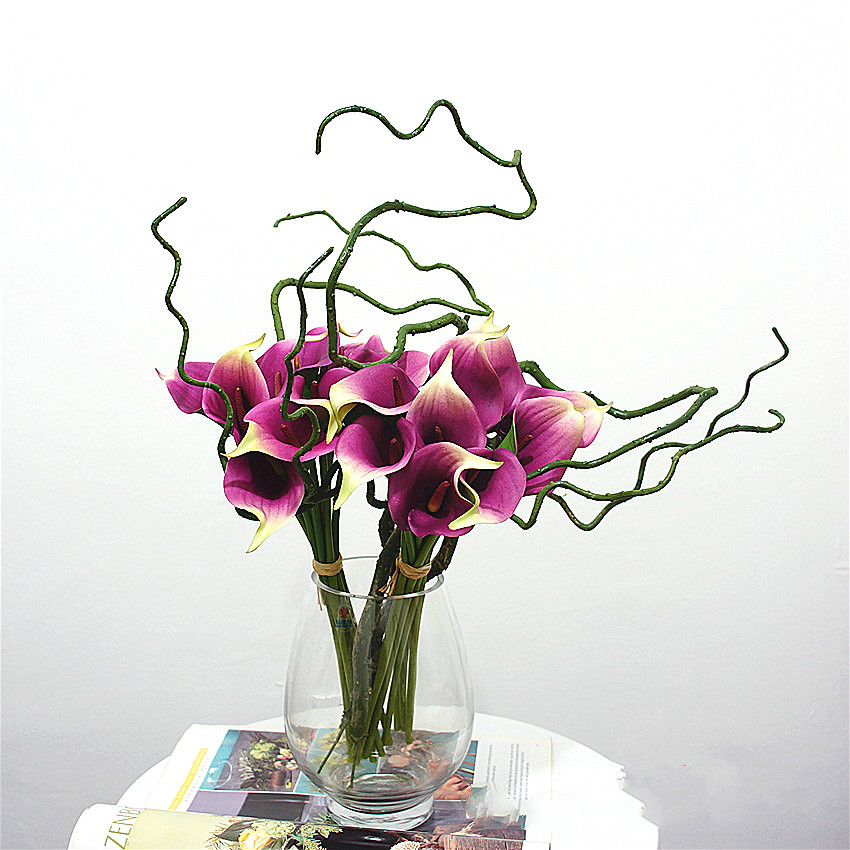 3pcs PU Dry Artificial dried branches Tree Branch root Flower arrangement  material home office wedding decoration flowers