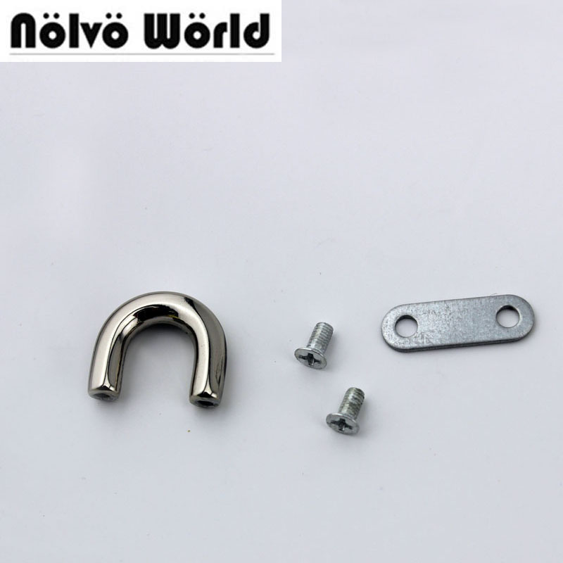 50pcs Inner 1cm 3/8 Inch 4 Colors U Ring,bags Metal Hanger Alloy U Rings For Handbags Connector Bridge Ring