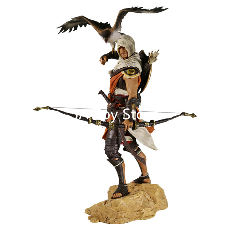 Assassins Creed Assassin 'S Creed Origines Bayek Protecteur con la sua aquila Action PVC Figure Model Toy 28 cm Scatola Retial