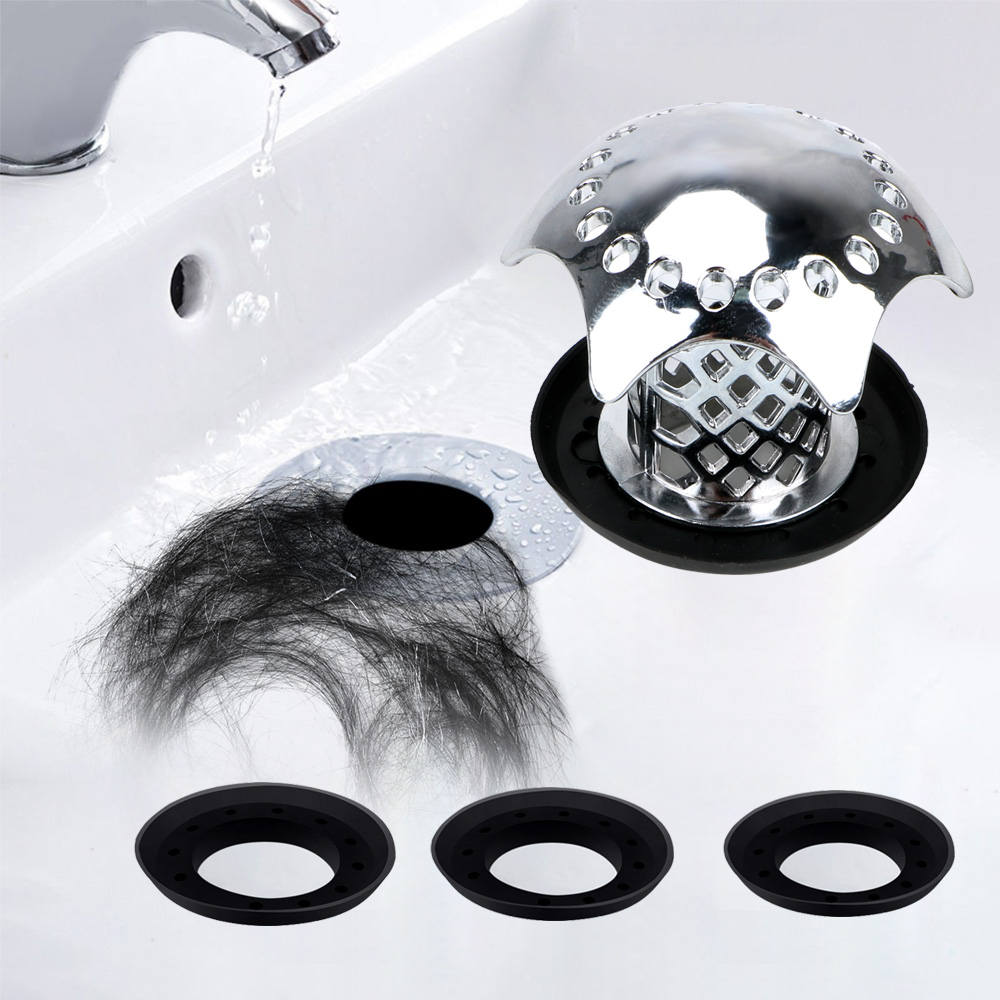 Drain Strainer Hair Catcher for Kitchen Bathroom Sink Strainer 2 Pack Bathtub Mesh Stainless Steel Stopper Screen Trap Shower